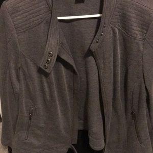 Lane Bryant Jackets & Coats - Grey cotton Moro jacket